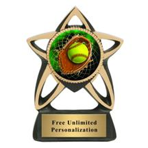 Star Insert Softball Trophy