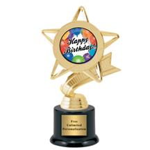 Ribbon Star Birthday Trophy