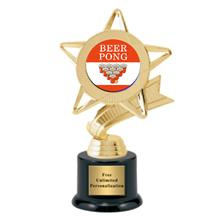 Ribbon Star Beer Pong Trophy