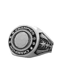 Bright Silver Soccer Championship Ring