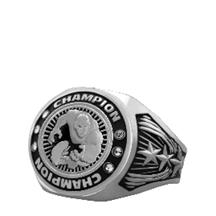 Bright Silver Wrestling Championship Ring