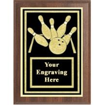 Bowling Activity Plaque