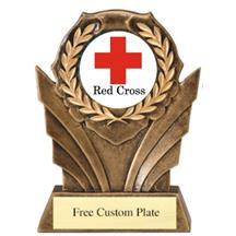 Red Cross Wreath Mylar Holder