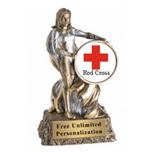 Super Hero Red Cross Insert Trophy
