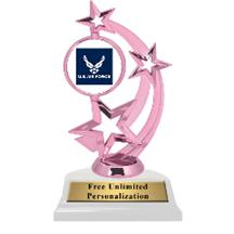 Pink Air Force  Astro Spinner Insert Trophy