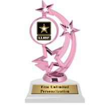 Pink Army Astro Spinner Insert Trophy