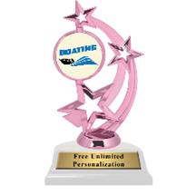 Pink Boating Astro Spinner Insert Trophy