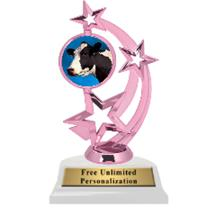 Pink Cow Astro Spinner Insert Trophy