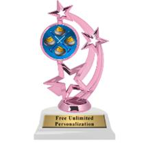 Pink Curling Astro Spinner Insert Trophy