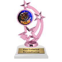 Pink Cycling Astro Spinner Insert Trophy