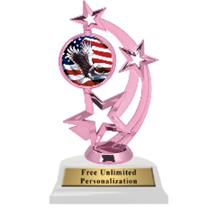 Pink Eagle Astro Spinner Insert Trophy