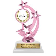 Pink Fraternity Astro Spinner Insert Trophy