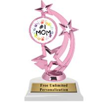 Pink Mother's Day Astro Spinner Insert Trophy