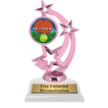 Pink Pickleball Astro Spinner Insert Trophy