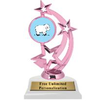 Pink Sheep Astro Spinner Insert Trophy