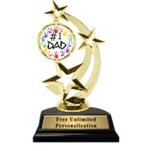 Gold Father's Day Astro Spinner Insert Trophy