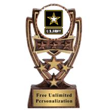Four Star Army Insert Trophy