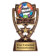 Four Star Birthday Insert Trophy