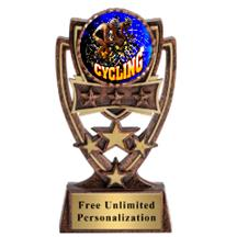 Four Star Cycling Insert Trophy