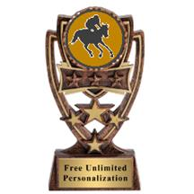 Four Star Jockey Insert Trophy