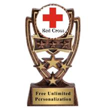 Four Star Red Cross Insert Trophy
