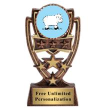 Four Star Sheep Insert Trophy