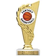 Rising Wreath Fantasy Basketball  Insert Trophy