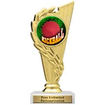 Rising Wreath Kickball Insert Trophy