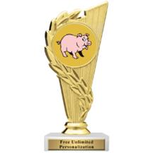 Rising Wreath Pig Insert Trophy