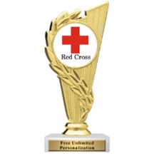 Rising Wreath Red Cross Insert Trophy