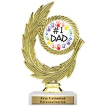 Honor Wreath Father's Day Insert Trophy