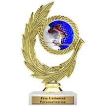 Honor Wreath Skiing Insert Trophy