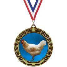 Antique Insert Chicken Medal