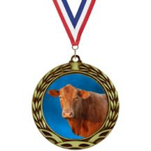 Antique Insert Cow Medal