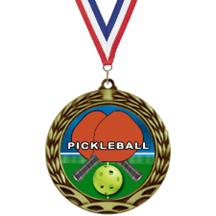 Antique Insert Pickleball Medal