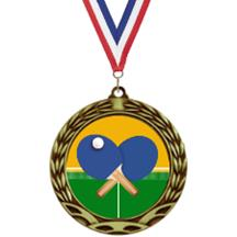 Antique Insert Ping Pong Medal