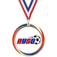 Antique Red White and Blue AYSO Medal