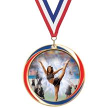 Antique Red White and Blue Cheer Medal