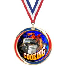 Antique Red White and Blue Cooking Medal