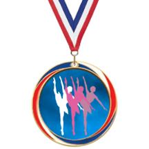 Antique Red White and Blue Dance Medal