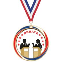 Antique Red White and Blue Debate Medal