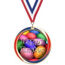 Antique Red White and Blue Easter Medal