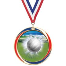 Antique Red White and Blue Golf Medal