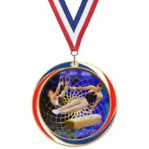 Antique Red White and Blue Gymnastics Medal