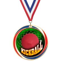 Antique Red White and Blue Kickball Medal