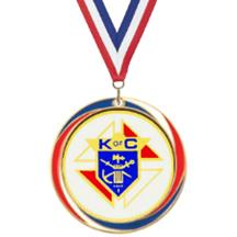 Antique Red White and Blue Knights of Columbus Medal