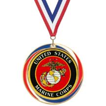Antique Red White and Blue Marine Medal
