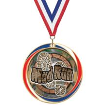 Antique Red White and Blue Mud Run Medal