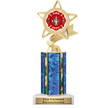 Ultra Wide Column Firefighter Insert Trophy