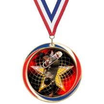 Antique Red White and Blue Skateboarding Medal
